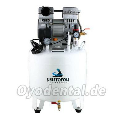 Cristofoli® KR I-65L Dental Luft-Kompressor Motoren ölfrei still 65L