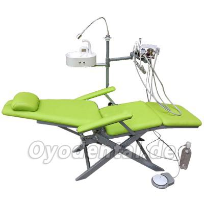 TB-3 ® DZDY Portable Dental Folding Chair with LED Light,Spittoon Basin and Turbine Unit