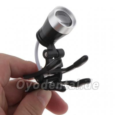Dental Portable 1W LED Scheinwerferlampe Clip-on-Typ für Bincolar Lupe