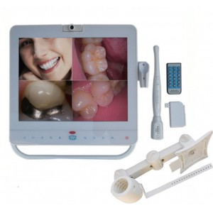 Dental Wireless WIFI Intraorale Kamera 15 Zoll LCD-Monitor mit Halter MD1500W