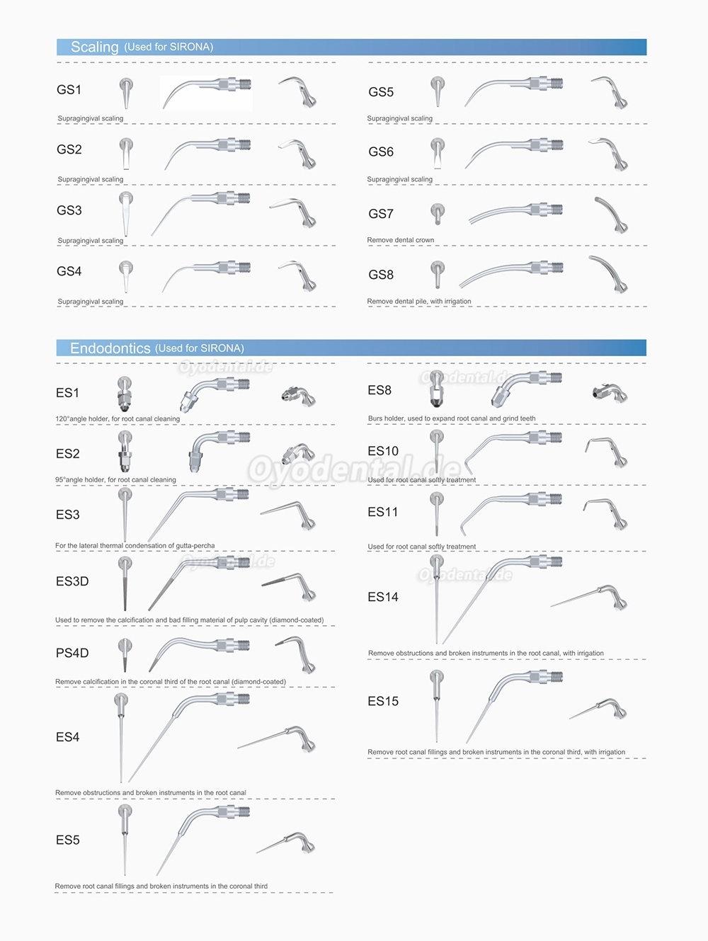 10Pcs Woodpecker Ultraschallspitzen Endodontie Spitzen E1 E2 E3 E3D E4 E4D E5 E5D E8 E9 E10D E11 E11D E14