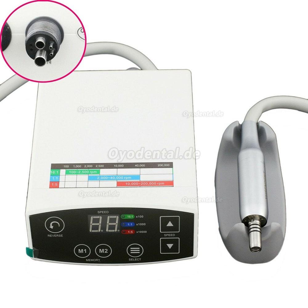 YUSENDENT COXO Dental Elektrischer LED-Mikromotor + Winkelstück Handstück 1: 1 CX235 C-1C