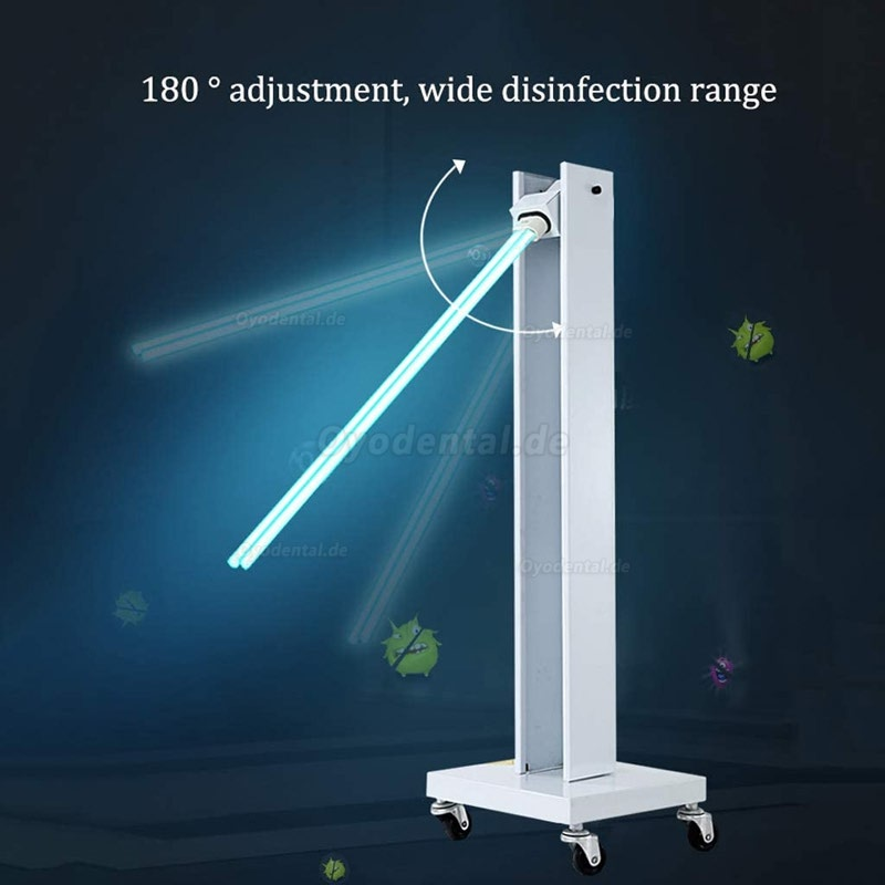 Indoor Mobile UV Sterilizer Disinfection Lamp Germicidal UV Sterilizing Light with Wheels