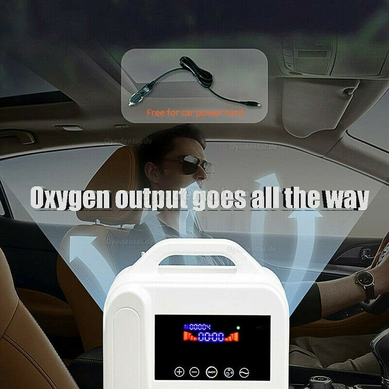 Portable Intelligent Home Car Oxygen-Concentrator Generator 1L/min Machine