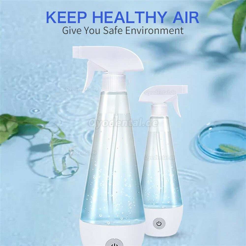 Disinfection Spray Bottle Sterilizing Hypochlorous Acid Water Generator Air Purifiers Germ Anti Virus